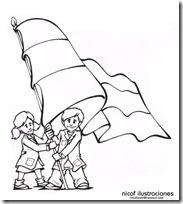 dibujos para colorear de la bandera argentina