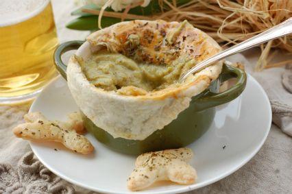 Zuppa di zucchine in crosta