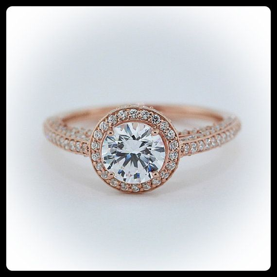 Rose Gold Ring Rose Gold Ring Diamond Halo Settings