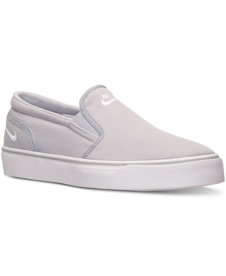 Nike Toki Slip Textile Wolf Grey/White - Zappos.com Free Shipping BOTH Ways  | {style} men shoes | Pinterest | Wolf, Gray and Delivery