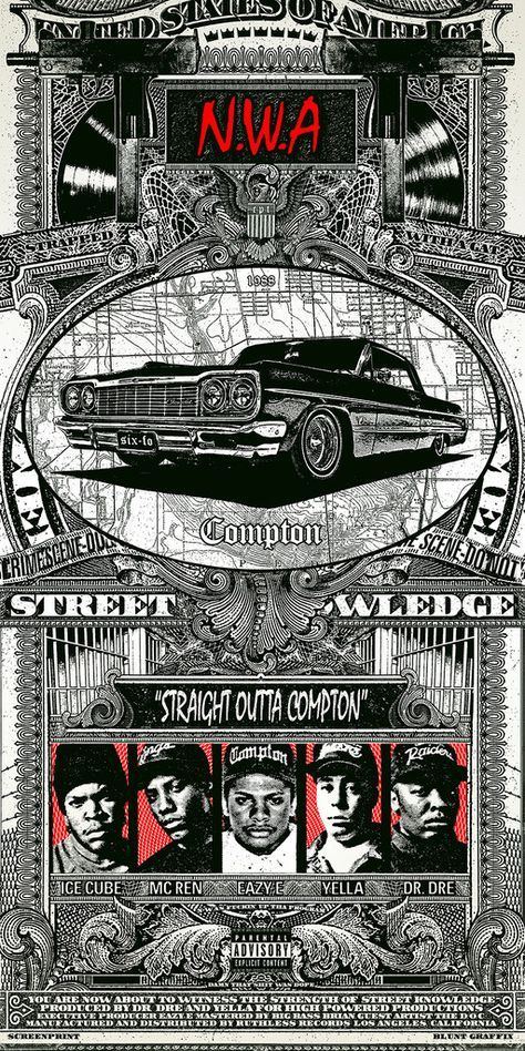 Straight Outta Compton / N.W.A. by Blunt Graffix