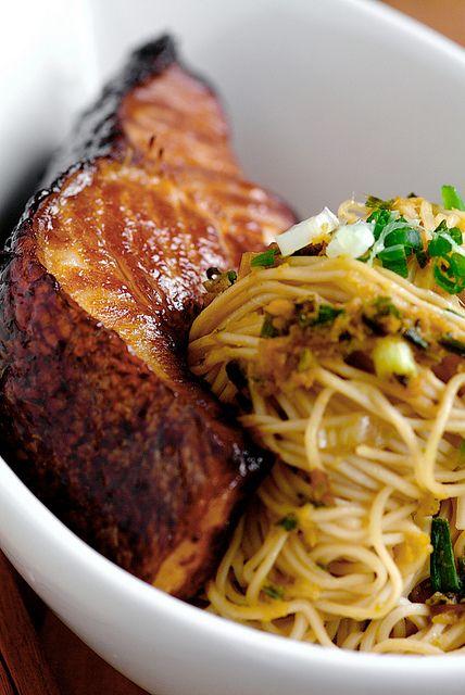 cod-teriyaki with gingerr scallion noodles -- sounds delish!