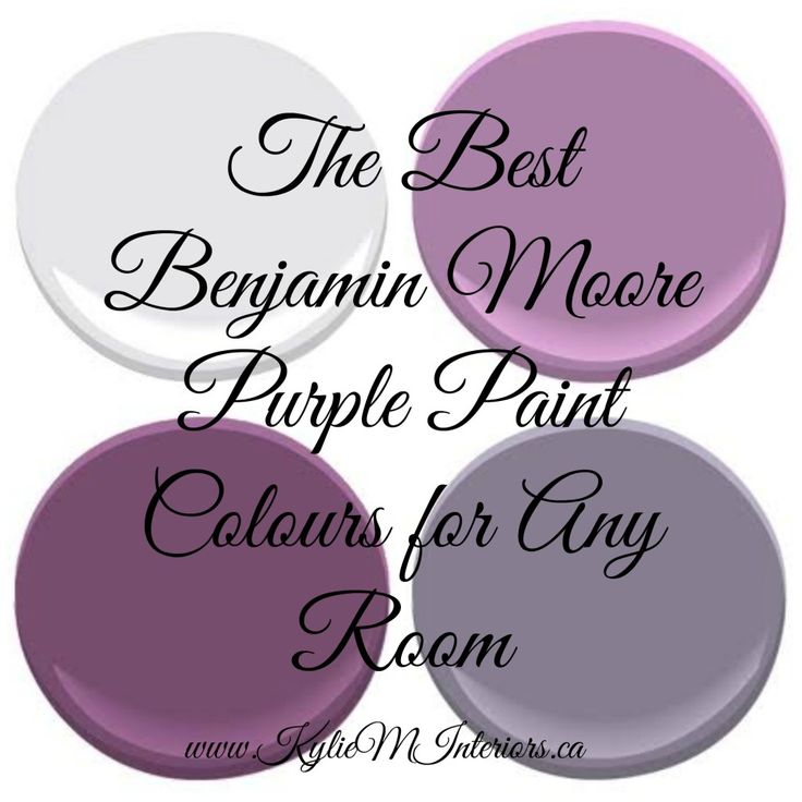 The Most Popular Benjamin Moore Purples And Purple
