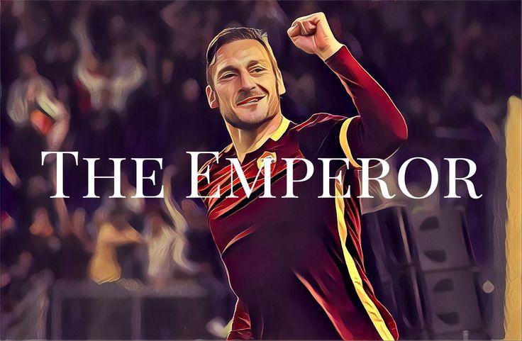 That's an end of an era. LEGEND! 👏👏👏⚽️🔟🇮🇹 #totti #emperor #asroma #ilcapitano #football /// Завершилась эпоха. Великий игрок! 👏👏👏⚽️🔟🇮🇹 #футбол #asroma #тотти
