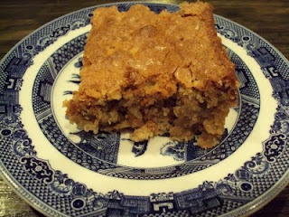 Georgia Cornbread Cake. Had this when I was in N. Carolina. It was awesome. It is NOT cornbread. No corn products at all....but a Yummy dessert.