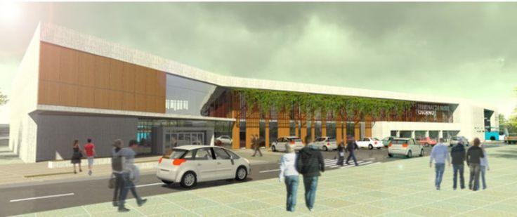 Terminal de Buses Osorno. Colaboración de los arquitectos: Jenniffer Santana, Mario Barrientos, José Vera.