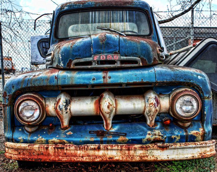 1951 Ford F100 Pick up Truck Front by DarkPhoenix36