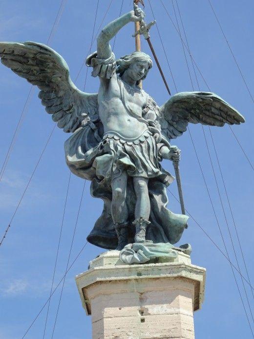 Decoaration on the Ponte Sant'Angelo, Rome