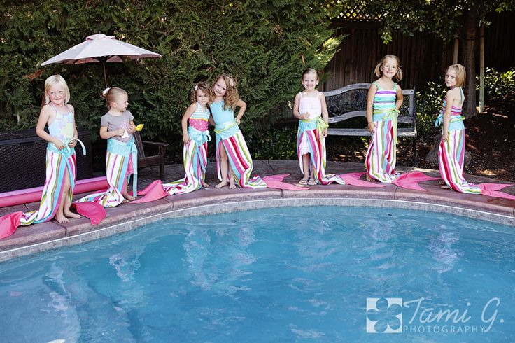 Mermaid Birthday Party, The towels are beach towels with a fin sewn on the bottom! Great favor idea! Be on the look out for cheap beach towels