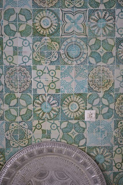 moroccan tiles by wood & wool stool, Handmade tiles can be colour coordinated and customized re. shape, texture, pattern, etc. by ceramic design studios