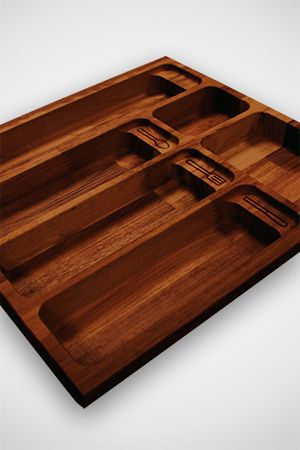 Iroko cutlery drawers are ideal for a contemporary kitchen or to add a touch of flair to your kitchen furnishings.  Available from Worktop Express® in sizes from 310mm up to 910mm wide, this range of iroko drawer inserts can suit even the largest set of cutlery. http://www.worktop-express.co.uk/worktop_accessories/solid-iroko-cutlery-drawer-inserts.html
