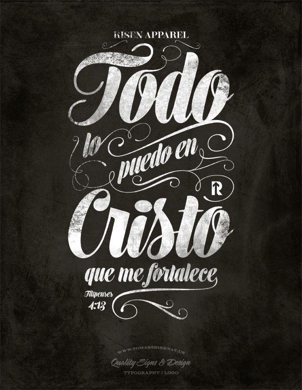 todo lo puedo en cristo | Typography