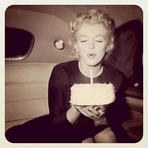 So refreshing.: Cakes Candles, Cakes Candle Our, Happy Birthday, Birthdays, Fresh Pies, Candle Our Birthday, Birthday Marilyn, Birthday Songs, Birthday Cakes