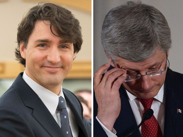 A new poll suggests Justin Trudeau's Liberals are en route to winning a massive majority in the next election as the senate scandal drags down the Conservatives