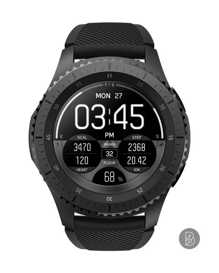 Mori Watch Face For Samsung Gear S3 S2 Watchface By Brunen Watches For Men Watch Faces Army Watches