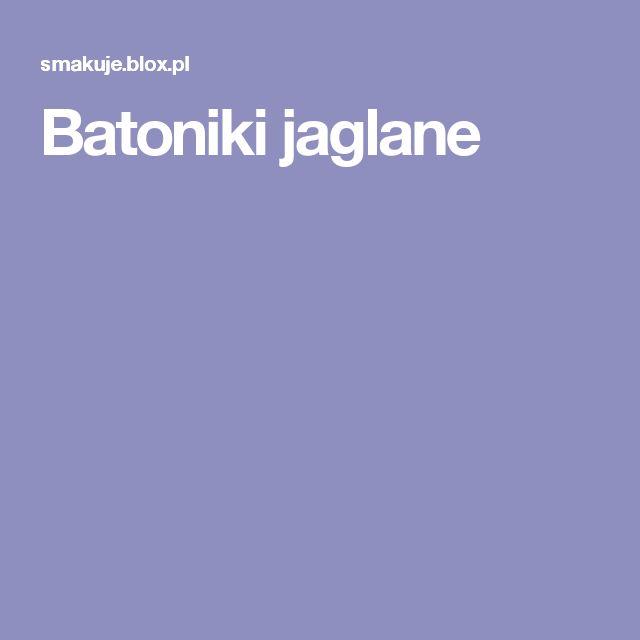 Batoniki jaglane