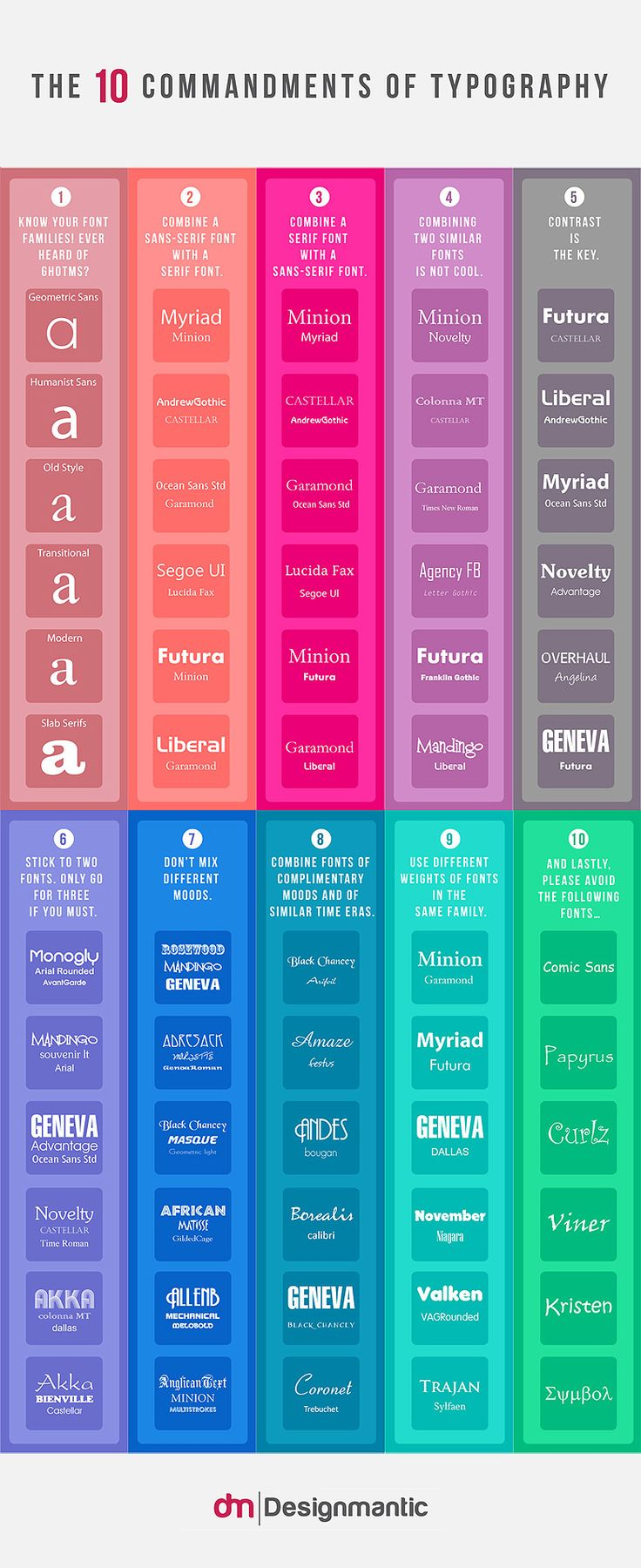 Top 10 Tips To Help You Choose The Right Fonts For Your Next Project [INFOGRAPHIC]