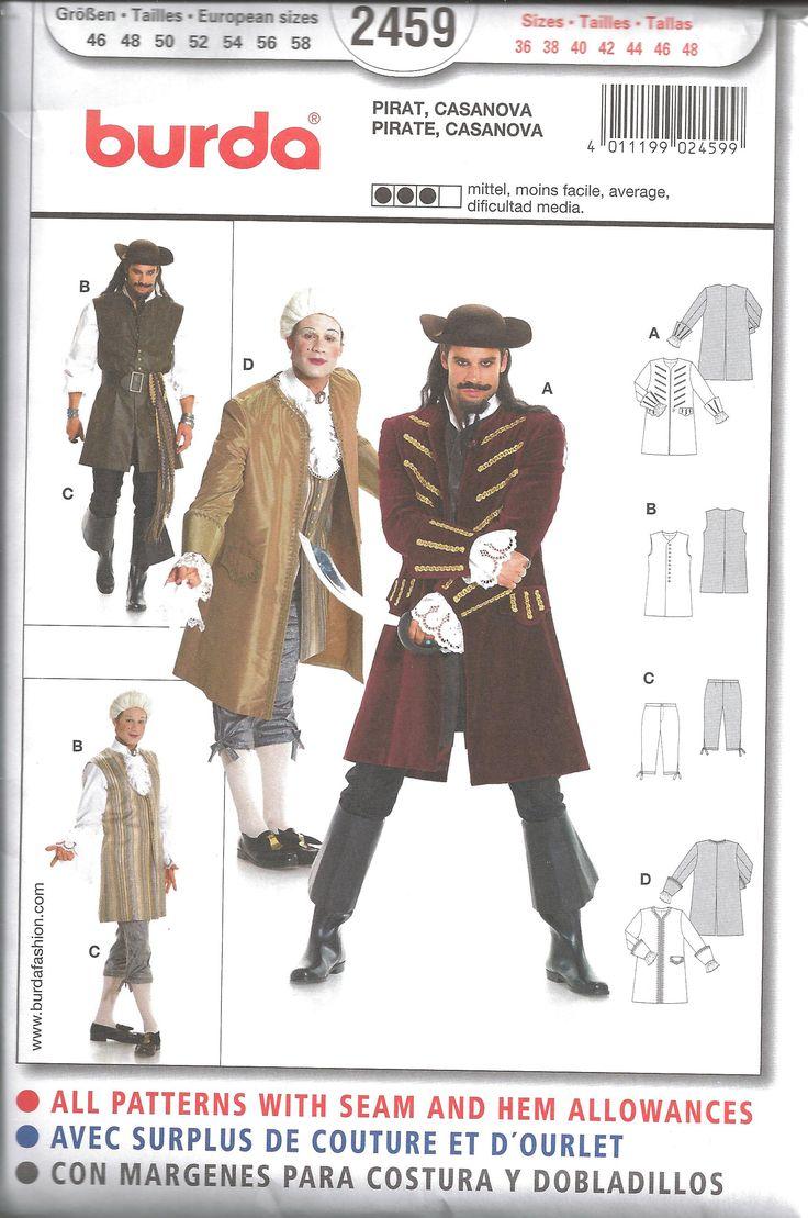 Simplicity 4923 - Patrones de costura para disfraces de hombre