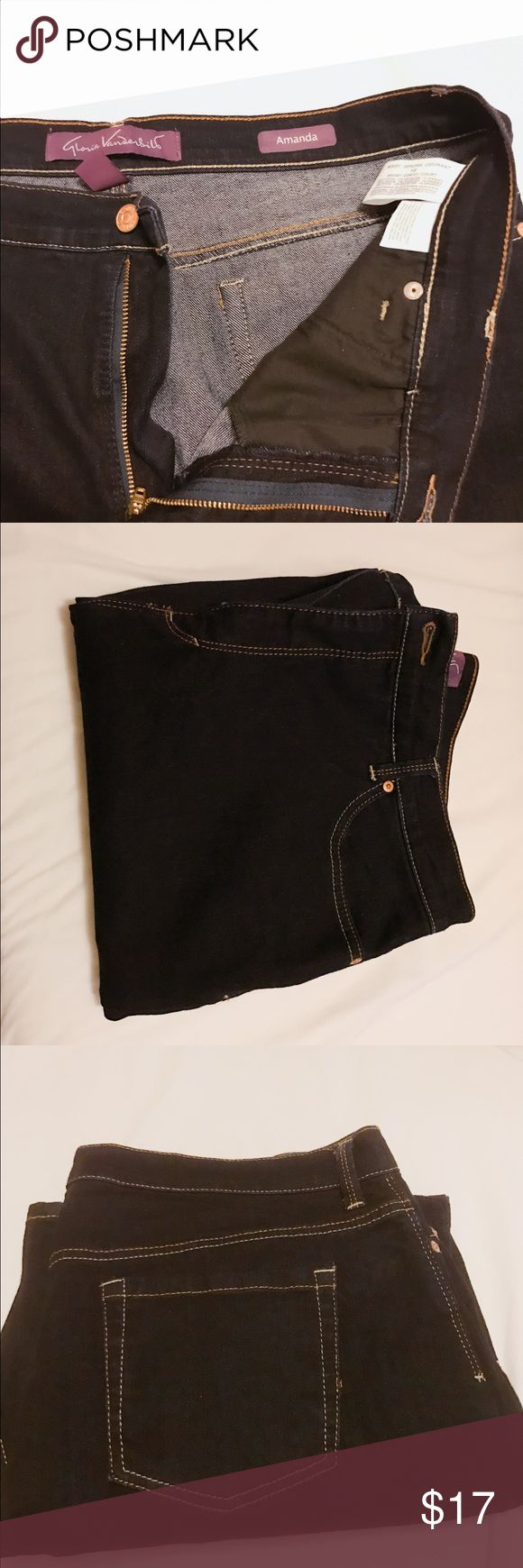 Skinny Amanda jeans brand new These are brand new from the store been sitting in my closet skinny leg - dark blue color Gloria Vanderbilt Jeans Skinny