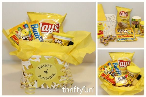 """Everyone can use a """"Basket of Sunshine"""" now and again to brighten their day. This is a guide about making a """"Basket of Sunshine""""."""