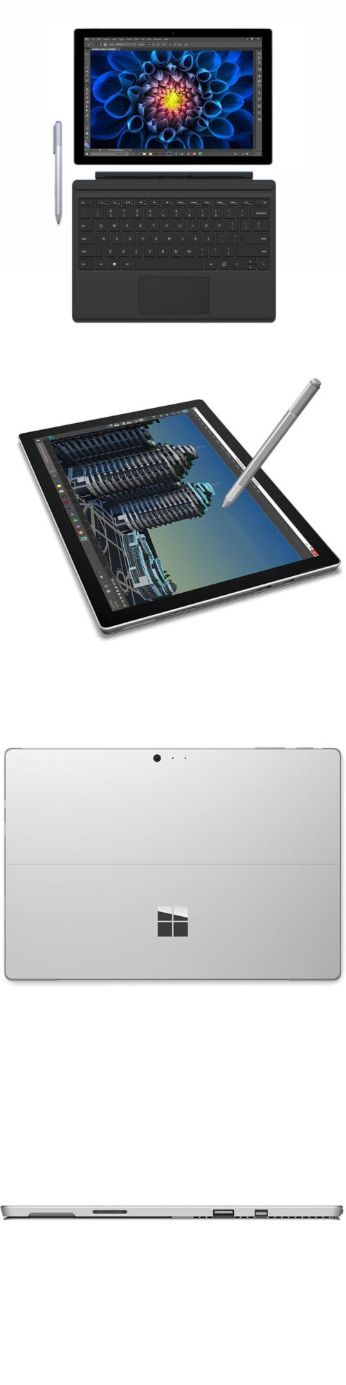 Computers Tablets Networking: Microsoft Surface Pro 4 256Gb 16Gb I7e 12.3 Tablet + Type Cover Bundle Th2-00001 -> BUY IT NOW ONLY: $1379.99 on eBay!