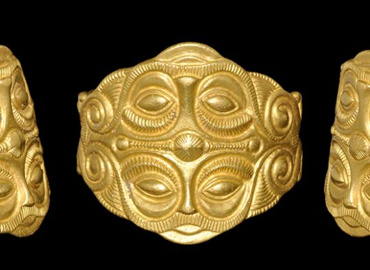 Celtic Gold Ring With Mask Motif, 5th Century BC – Elin Gregory