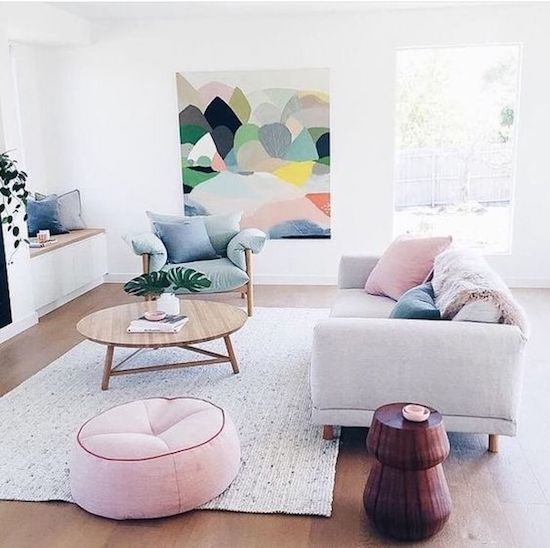 10 Minimalist Living Rooms To Make You Swoon Pastel Living Roompink