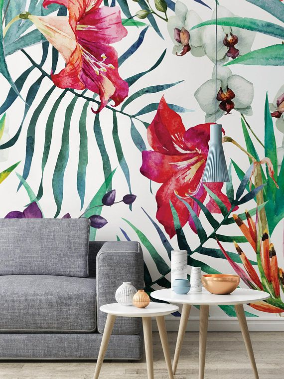 3D Colorful Flowers F76 Removable Wallpaper Self Adhesive Wallpaper Extra Large Peel /& Stick Wallpaper Wallpaper Mural AJ WALLPAPERS