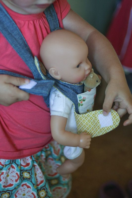 baby doll carrier  sewing (Oliver & S pattern, mid size corolle doll)