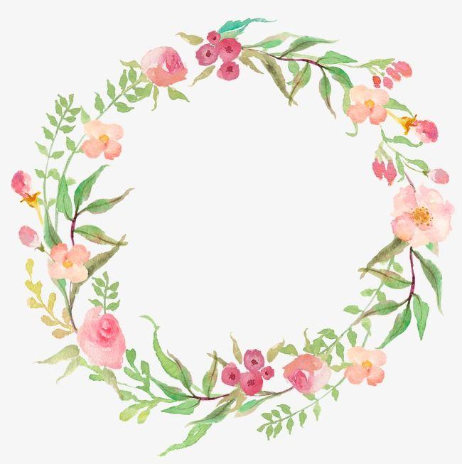 Aquarelle De Couronne Circulaire 18 Clipart Fleurs Comment