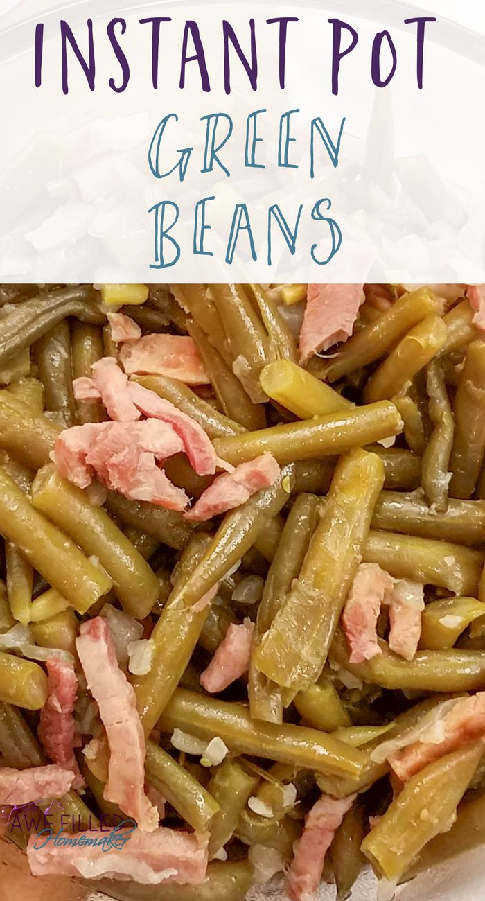 One thing I love about being a country girl is country style green beans! Grab your sweet tea and I'll share how I fixed them in the instant pot.