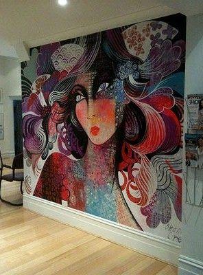 258 best urban art interiors images on pinterest - Painting graffiti on bedroom walls ...