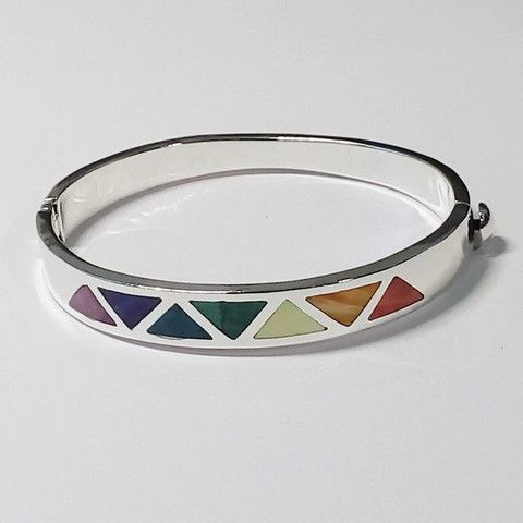 bracelet péruvien argent 950 et pierres fines