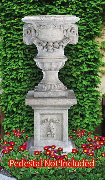 Pinterest & Grande Ram\u0027s Head Urn - Concrete Cast Stone Garden Flower Pot ...