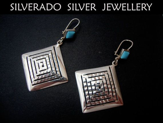 Ancient Greek Eternity Key Square Hammered by SilveradoJewellery, €55.00