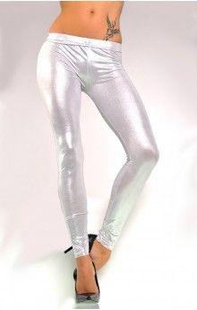 Tanja Glimmer Leggings i Sølv
