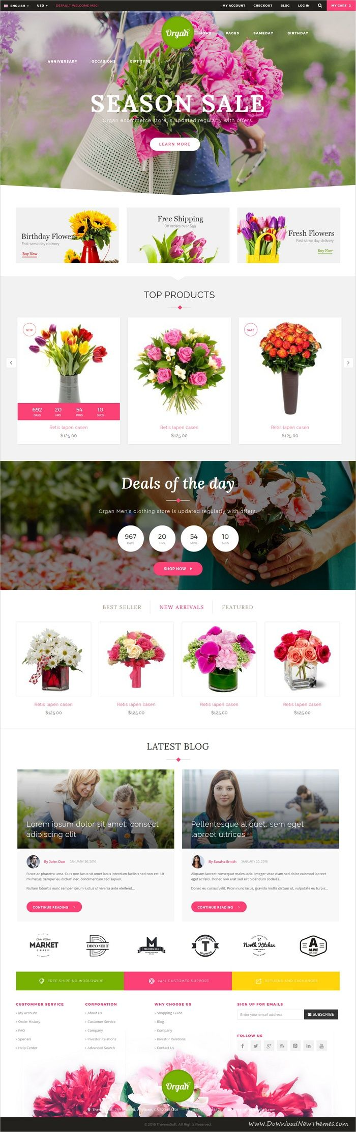 Organ is a wonderful 2in1 responsive HTML #bootstrap template for #flower #florist #shop organic store or eCommerce website download now➩ https://themeforest.net/item/organ-ecommerce-multipurpose-html5-template/19455236?ref=Datasata