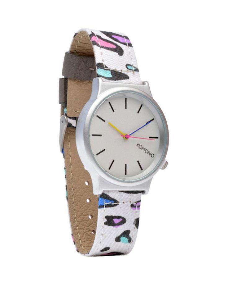 KOMONO | 80s Leopard Watch in White - Women - Style36  #style36 #xmasshopping #wishlist