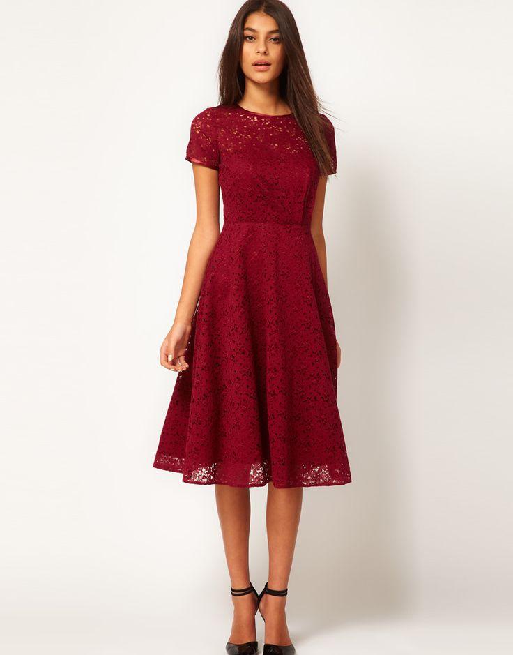 ASOS Midi Dress In Lace