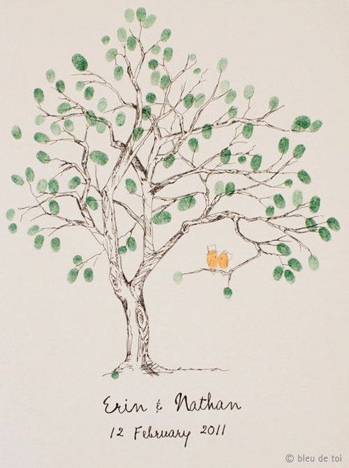 wedding-tree-with-love-birds-thumbprint-guestbook