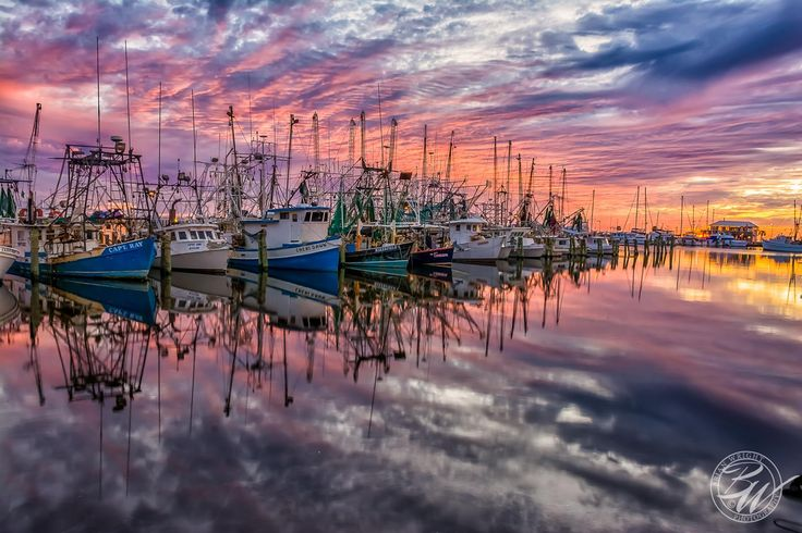 Sunset from the Pass Christian Harbor. Photographer Brian ...