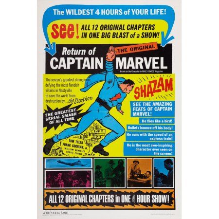 Adventures Of Captain Marvel Canvas Art - (24 x 36)