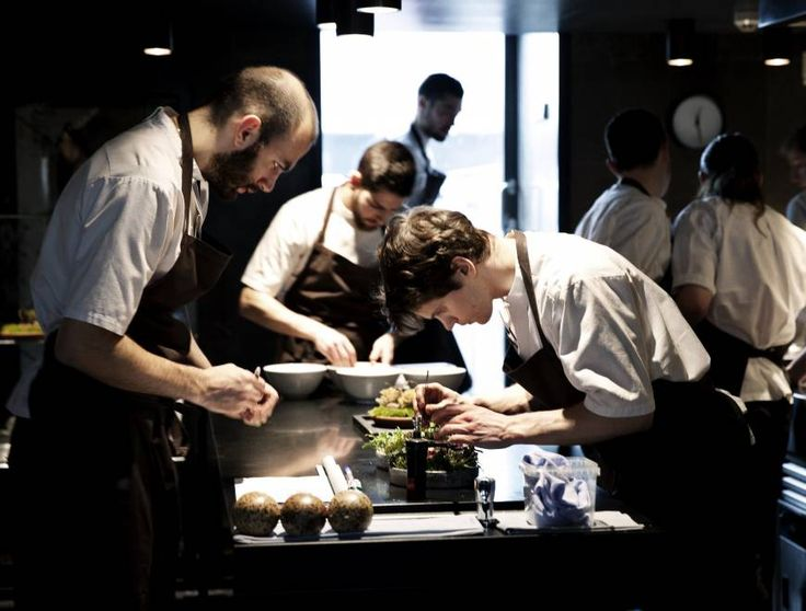 Nature's pantry: Chefs prepare intricate dishes at the Noma restaurant in Copenhagen. #branding #restaurants @SYDsLISTglobal