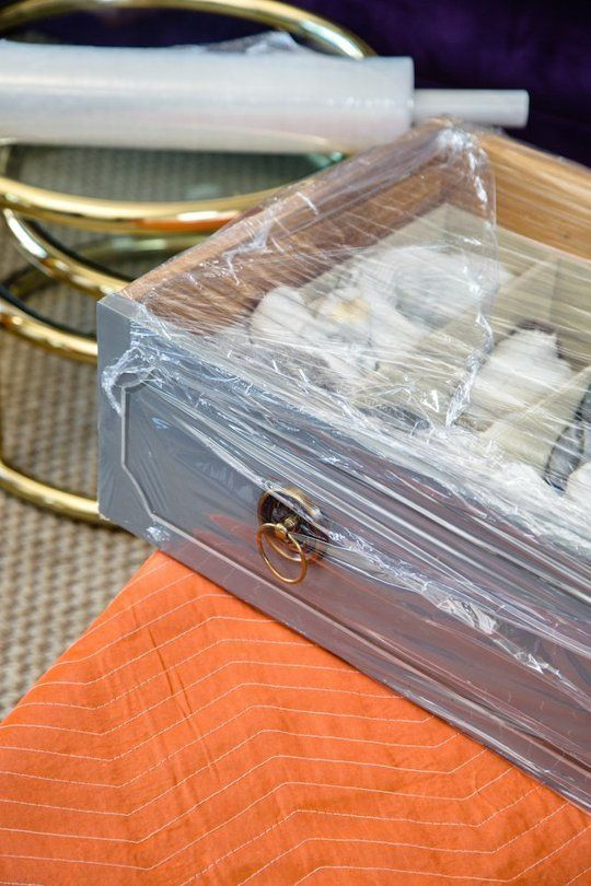 STAPLES MOVING TIP: Meet your new best friend, plastic wrap. Swaddle your dresser drawers in plastic wrap; everything inside stays intact, and you don't have to fill another box.