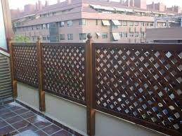 resultado de imagen para vallas de madera para separar terrazas