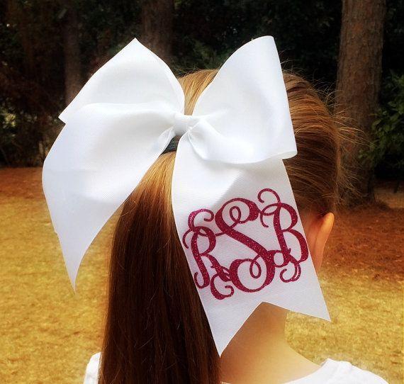 Glitter Monogram Cheer Bow, Glitter Cheer Bows, Big Cheer Bow, Hair Bow, Monogrammed Gift, Cheerleaders, Dance, Gymanastics, Girls, Teens