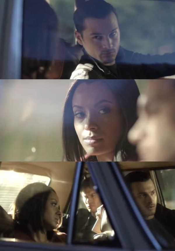 Ride along on a totally not awkward at all Damon/Bonnie/Enzo vampire-killing road trip. The Vampire Diaries, April 2016