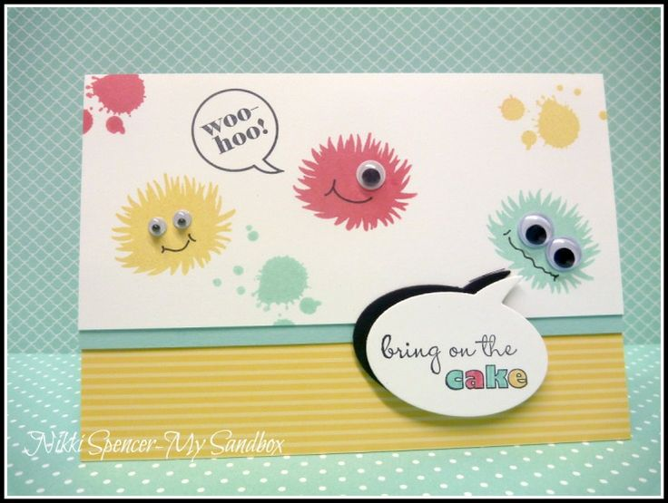 Stampin' Up! Simple Stems Monsters (from 2013-2014 Annual Catalog) by Nikki Spencer