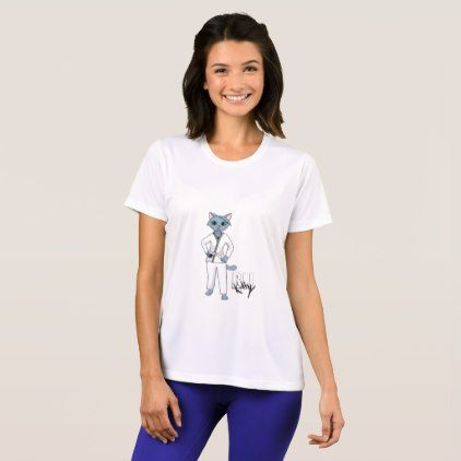 BJJ Kitty White Belt T-Shirt - #customizable create your own personalize diy