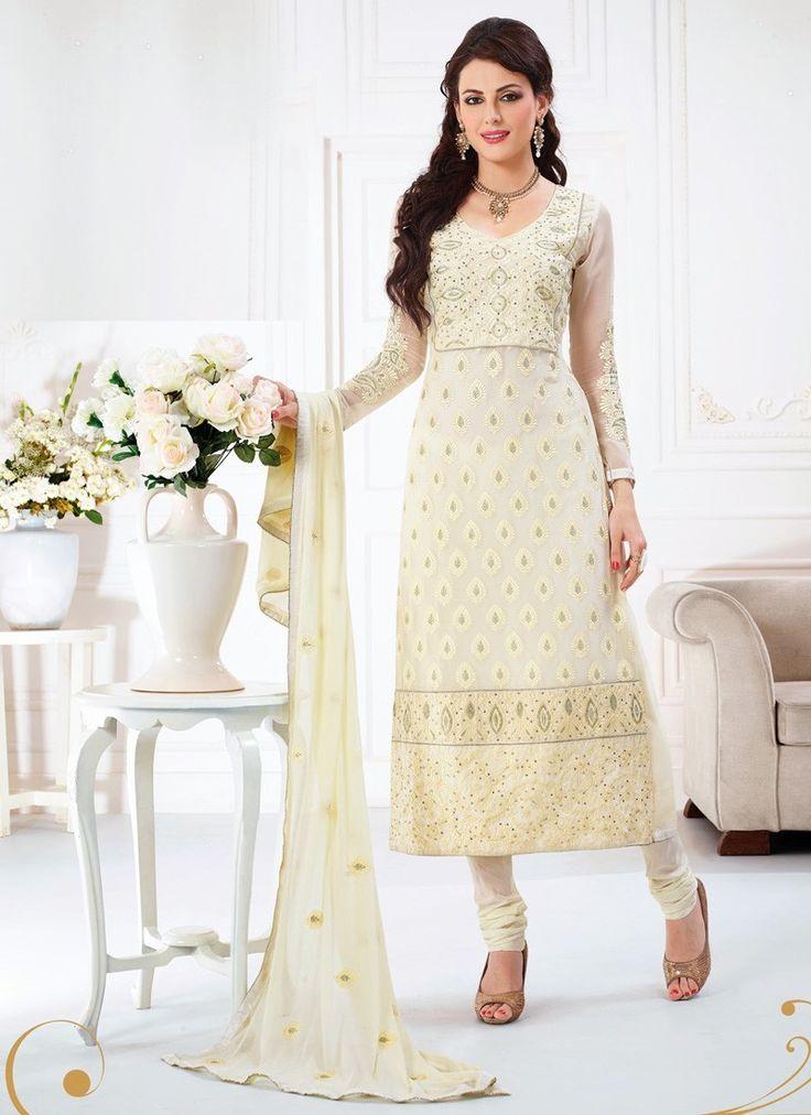 Off white color #salwar Suit